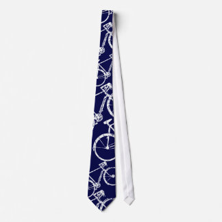cravate bleue de cycle pour des vélo-amants