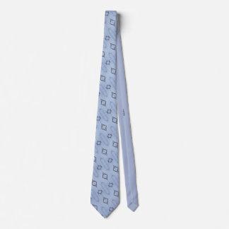 Cravate bleue de la géométrie de la nature