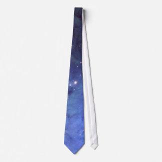 Cravate bleue de l'espace
