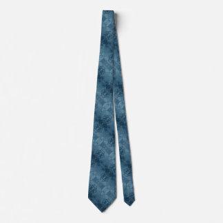 Cravate bleue de marbre