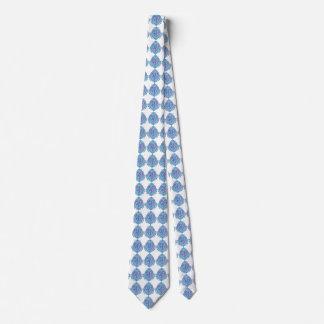 Cravate bleue deux de lavande
