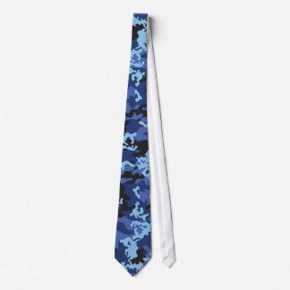 Cravate bleue faite sur commande de Camo