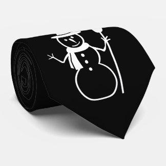Cravate Bonhomme de neige avec Noël de flocons de neige