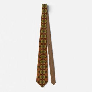 Cravate Brown, orange, et lien vert
