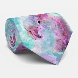 Cravate Cacatoès d'aquarelle