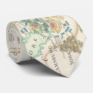 Cravate Carte vintage de la bataille de Yorktown (1781)