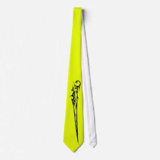 Cravate chartreuse acide avec le motif simple