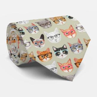 Cravate Chats mignons portant le motif en verre