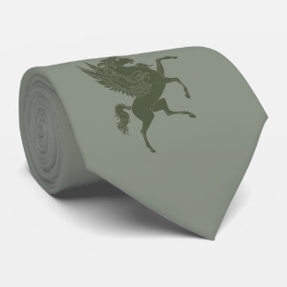 Cravate Cheval de vol dans vert-foncé