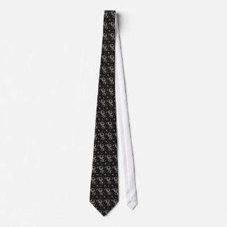 Cravate Chinese botanical pattern tie - black