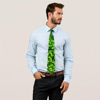 Cravate Chrysanthème vert