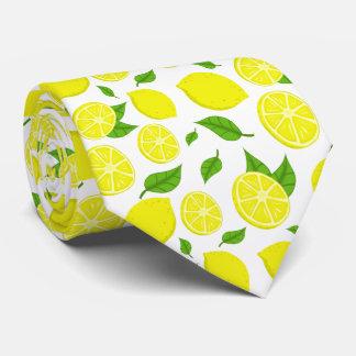 Cravate Citrons et feuille vert sur l'arrière - plan fait