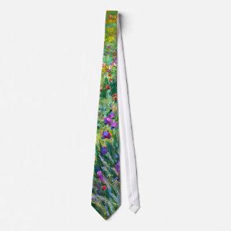 Cravate Claude Monet : Le jardin d'iris chez Giverny