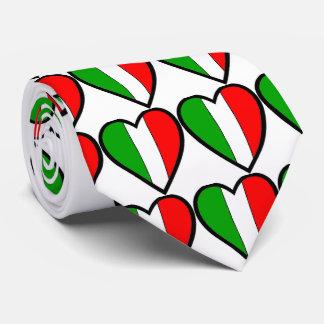 Cravate Coeurs de drapeau de l'Italie