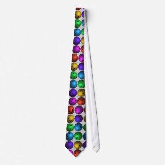 Cravate colorée de boule de bowling