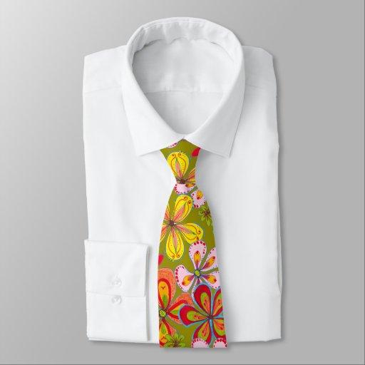 Cravate colorée de nouveauté de rétro grand art de