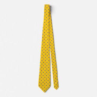 Cravate Conception bleue de couleurs de jaune d'or de