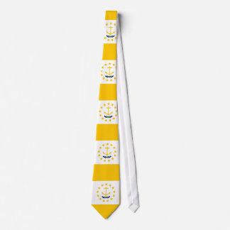 Cravate Conception de drapeau d'état d'Île de Rhode