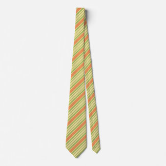 Cravate Conception verte orange de motif de rayure