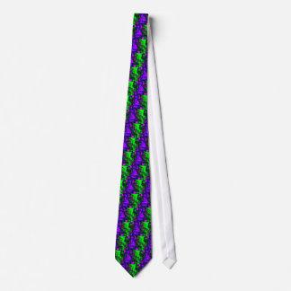 Cravate Conception verte pourpre de fractale