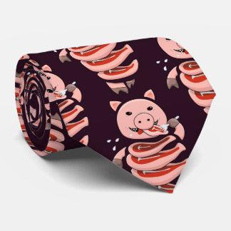 Cravate Consommation affamée foncée d'individu coupée chez