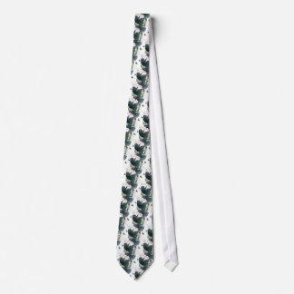 Cravate Cool asiatique d'art de papillon de fleur de rose