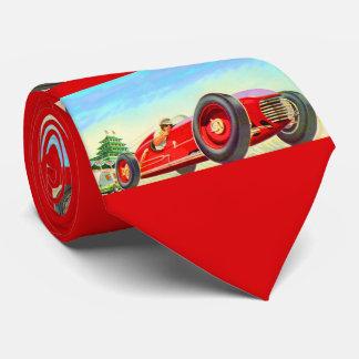 Cravate copie de voiture de course de 1950 rouges