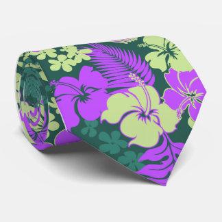 Cravate Copie hawaïenne de chemise de ketmie de baie de