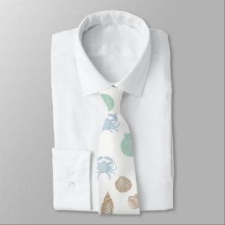 Cravate côtière de motif de coquillages