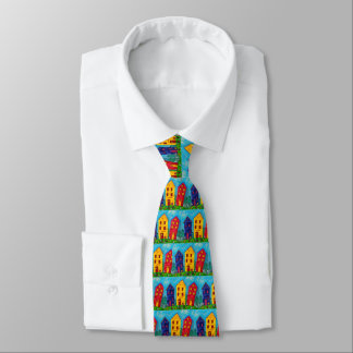Cravate Cottage artistique de Chambre colorée lunatique