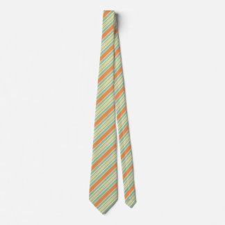 Cravate Couleurs oranges barrées par concepteur de rayures