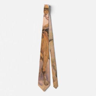 Cravate Cowboy vintage de cow-girl, femme sur le cheval