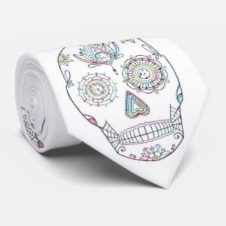 Cravate Crâne de sucre avec la peinture de sucrerie