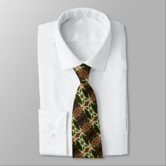 Cravate Cravate, brun et vert de cactus