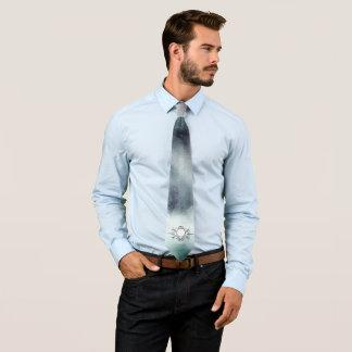 Cravate Créez pour posséder l'aquarelle bleue brumeuse de