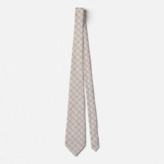 Cravate crème grise beige neutre de plaid