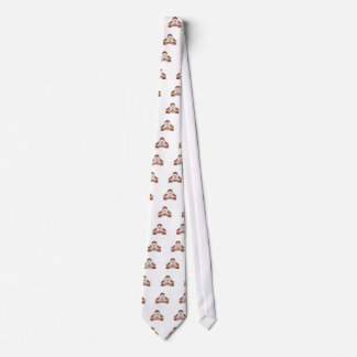 Cravate Crête de travail du bois de diable tasmanien rétro