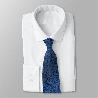 Cravate d'alphabet grec (bleue)