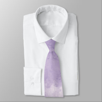 Cravate d'aquarelle de lavande