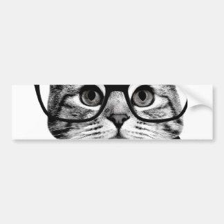 cravate d'arc de chat - chat en verre - chat en autocollant pour voiture
