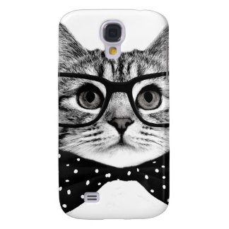 cravate d'arc de chat - chat en verre - chat en coque galaxy s4