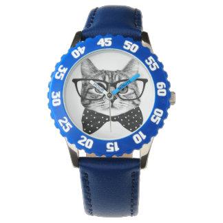 cravate d'arc de chat - chat en verre - chat en montres