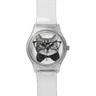 cravate d'arc de chat - chat en verre - chat en montres bracelet