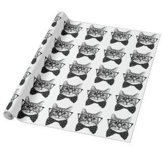 cravate d'arc de chat - chat en verre - chat en papier cadeau
