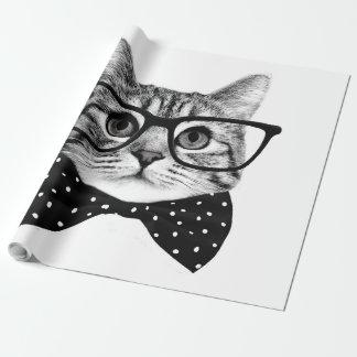 cravate d'arc de chat - chat en verre - chat en papiers cadeaux