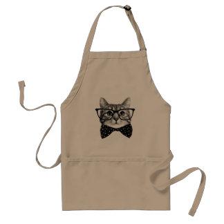 cravate d'arc de chat - chat en verre - chat en tablier