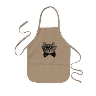 cravate d'arc de chat - chat en verre - chat en tablier enfant
