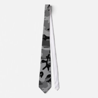 Cravate de camouflage de gris et de noir