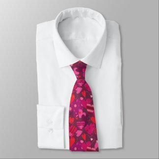 Cravate de coeurs de Saint-Valentin