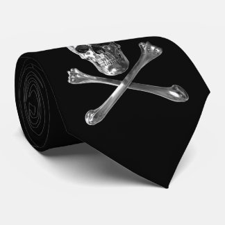 Cravate de crâne de jolly roger
